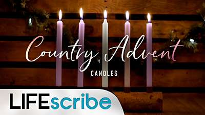 Country Advent Candles Collection