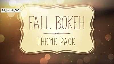 Fall Bokeh Theme Pack