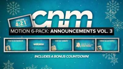 Motion 6-Pack: Announcements Vol. 3
