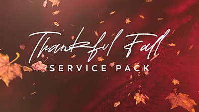 Thankful Fall Service Pack