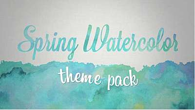 Spring Watercolor Theme Pack