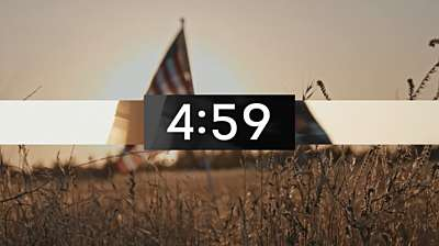 Sunset Flag Countdown