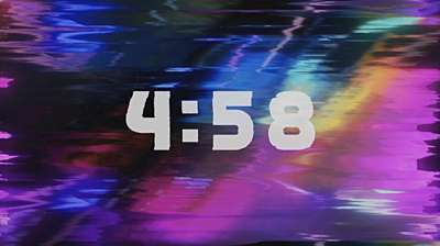 Retro Glitch Countdown