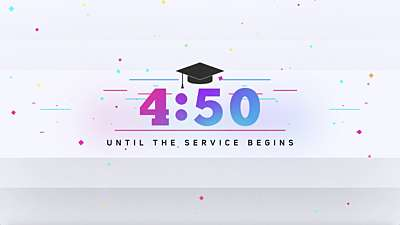 Colorful Graduation Countdown