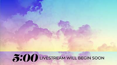 Gradient Clouds Lower Third Livestream Countdown