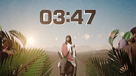 Palm Sunday Jerusalem Countdown