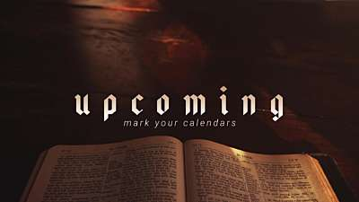 Bible Upcoming
