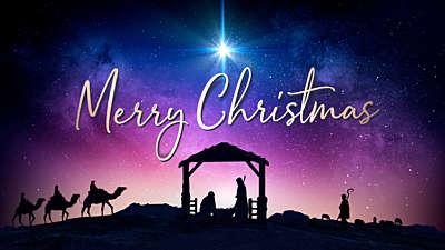 Christmas Night Nativity Merry Christmas