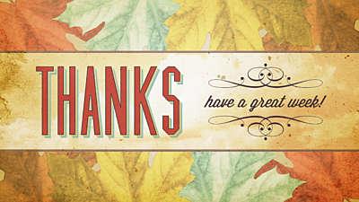 Classic Thanksgiving Closing