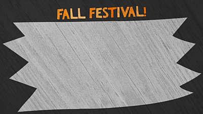 Cute Fall Festival Title