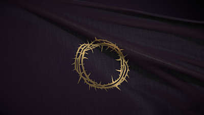 Easter Upside Down: Crown Of Thorns Flag