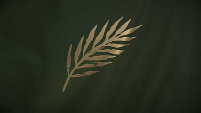 Easter Upside Down: Palm Leaf Flag