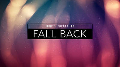 Fall Flares Fall Back