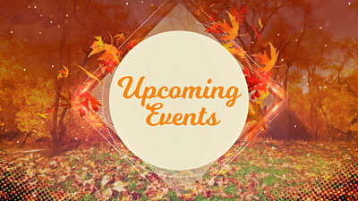 Fall Upcoming Events Volume 2