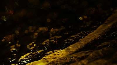 Glass Surface Amber Close