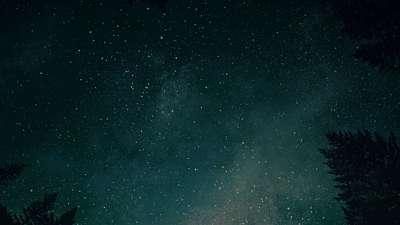 Heavenly Lights River Stars