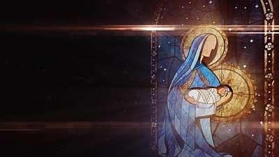 Nativity Glass Mary