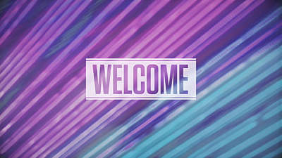 Neon Streaks Welcome