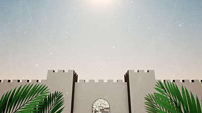 Palm Sunday Jerusalem Bright