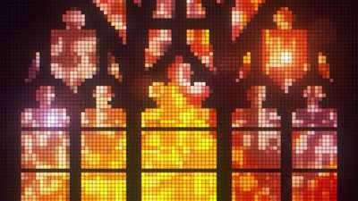 Pixel Glass Gold