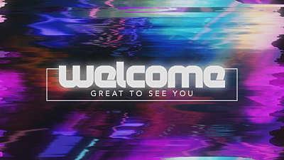 Retro Glitch Welcome 01