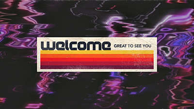 Retro Glitch Welcome 02