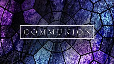 Simple Stained Glass Communion