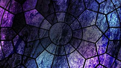 Simple Stained Glass Radial