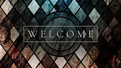 Simple Stained Glass Welcome
