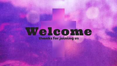 Watercolor Cross Welcome