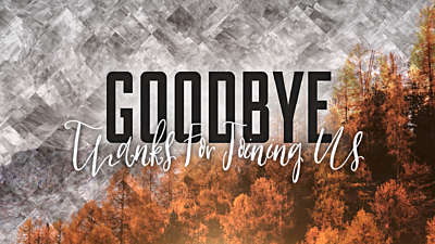 Colorful Fall Goodbye