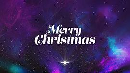 Christmas Galaxy Merry Christmas