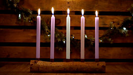 Country Advent Christ Candles