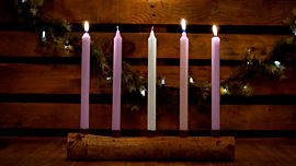 Country Advent Joy Candles