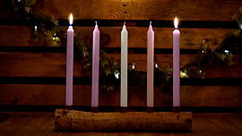 Country Advent Love Candles