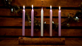 Country Advent Peace Candles