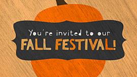 Cute Fall Festival Invite