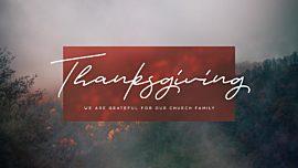 Deep Autumn Thanksgiving