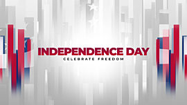 Modern Freedom Independence Day Title
