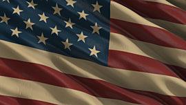 Old Fashioned America Flag Loop