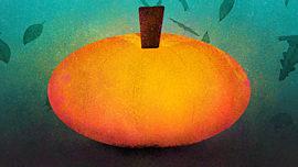 Painted Autumn Pumpkin 01