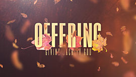 Thankful Fall Offering