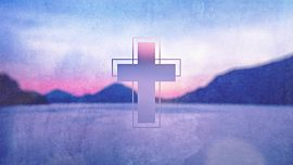 Watercolor Cross Lake