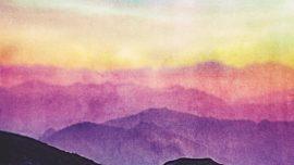 Watercolor Cross Mountains Alt