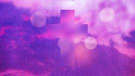 Watercolor Cross Sky