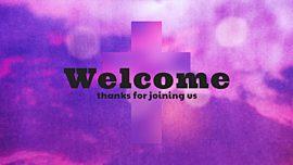 Watercolor Cross Welcome