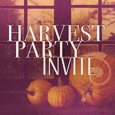 Harvest Party Invite