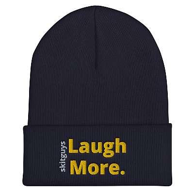 Laugh More Cuffed Beanie