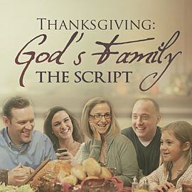 Thanksgiving: God's Family