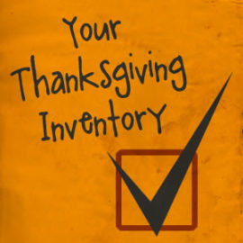 Your Thanksgiving Inventory